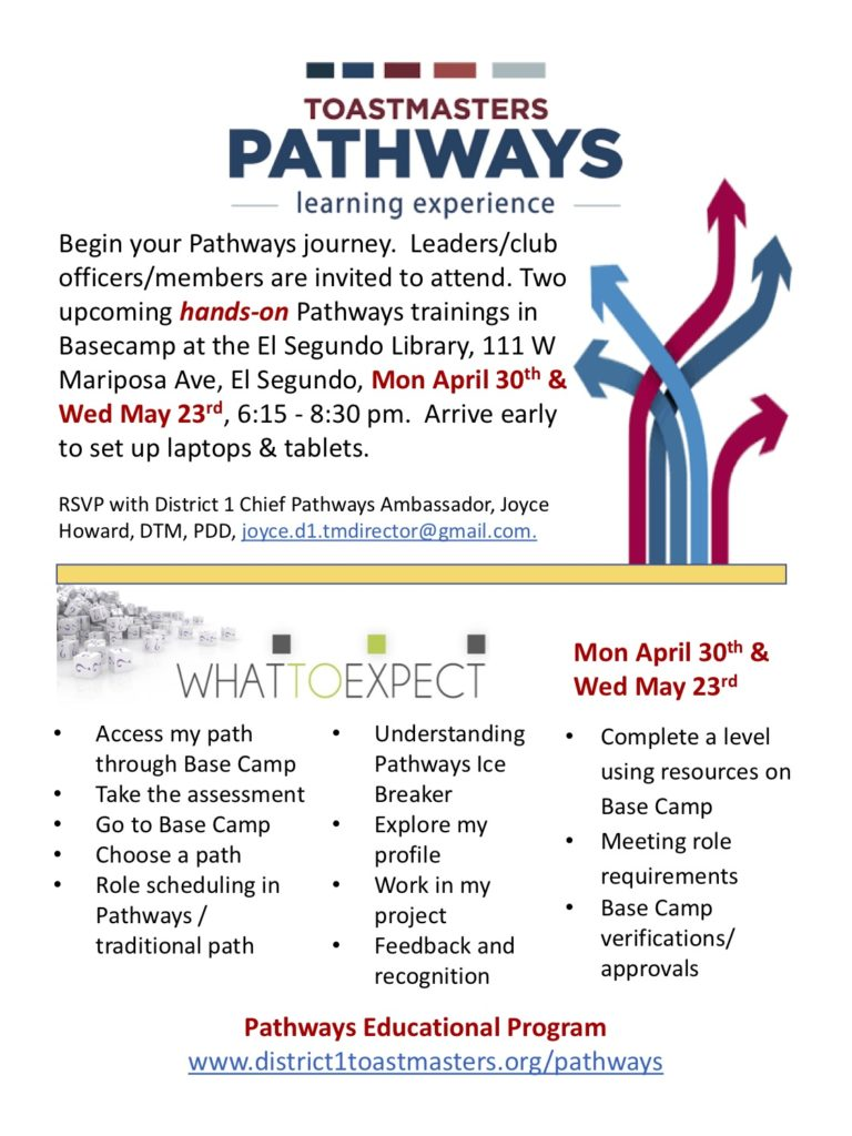 District 1 Pathways Basecamp Sessions