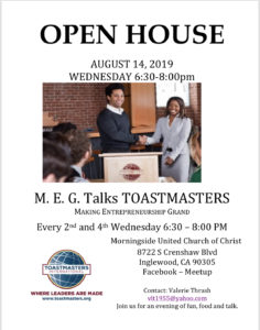 M.E.G. Talks Open House